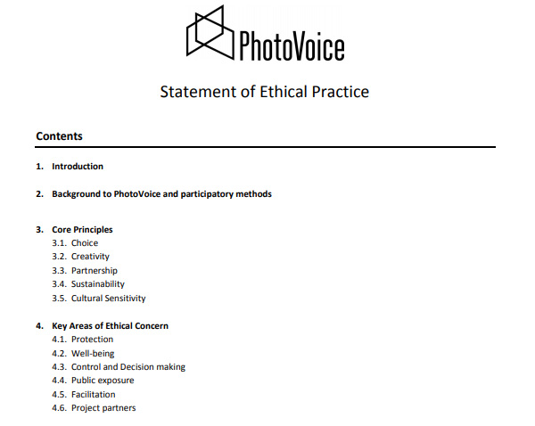 Statement of Ethical Practice