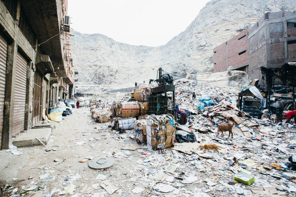 """Paper and Plastic sorting, """"Garbage City."""" 2015"""