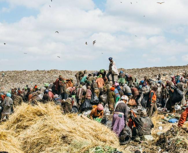 Workers at Koshe Landfill, Addis Ababa. 2015