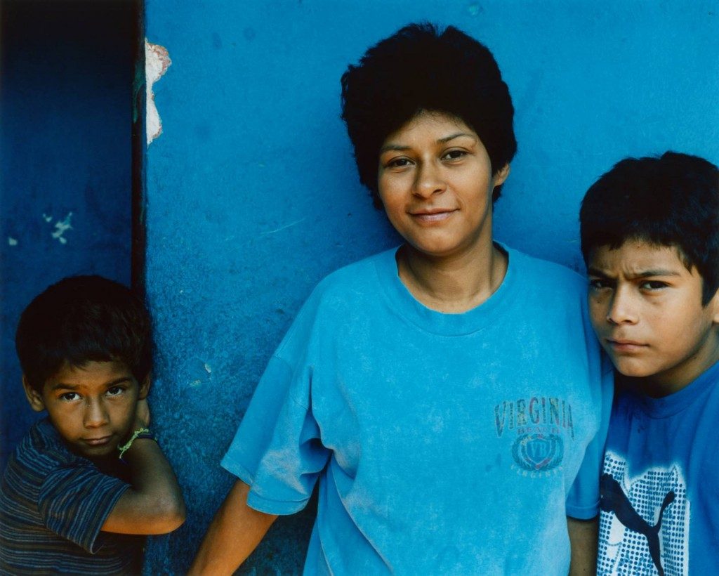 © Lottie Davies 'Claudia with Randy (12) and Kevin (9), two of her seven children, in Guatemala City (2006)'