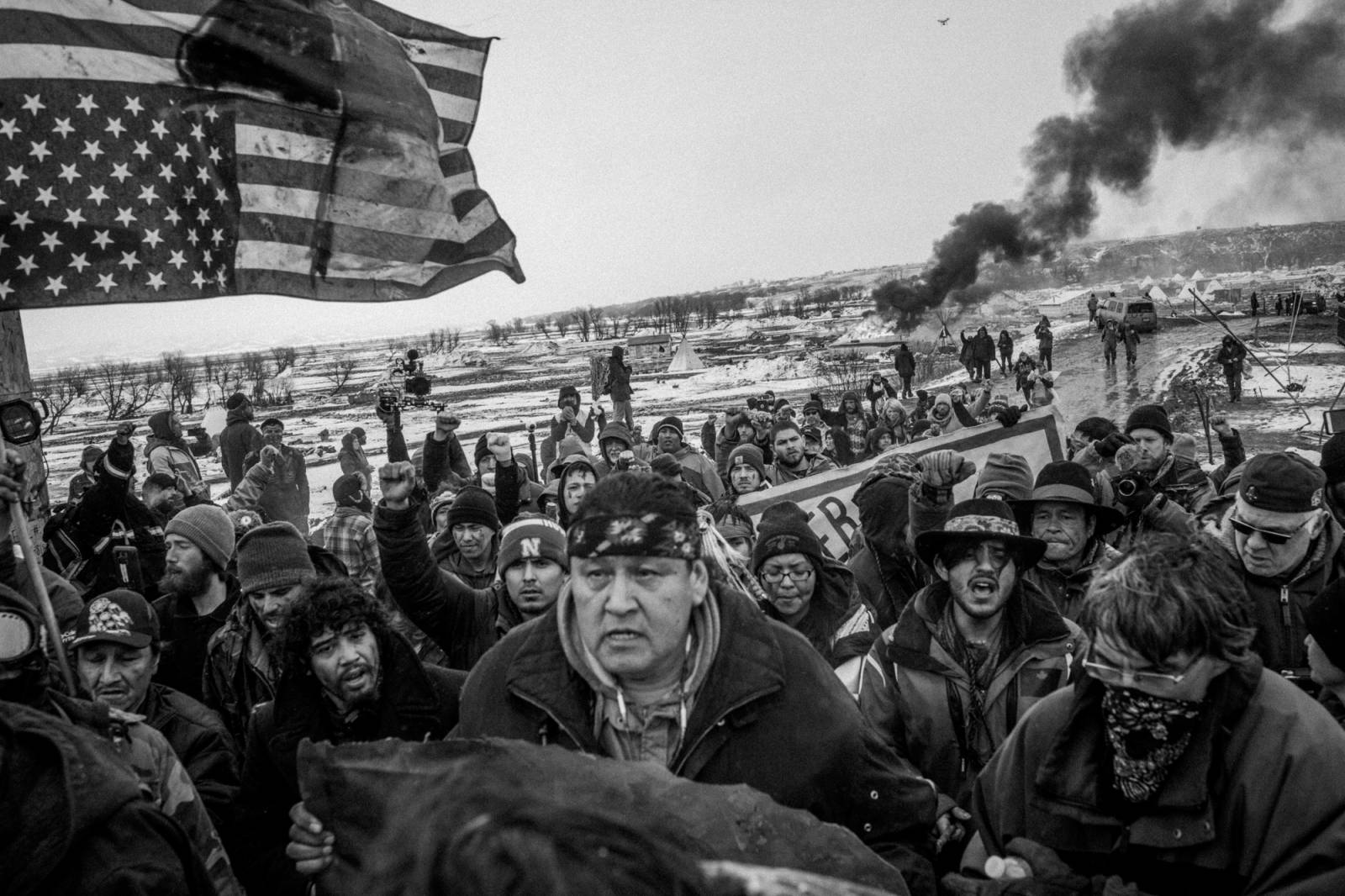 Photo by Josué Rivas from his project documenting the opposition to the Dakota Access Pipeline at the Oceti Sakowin Camp near the Standing Rock Sioux Reservation.